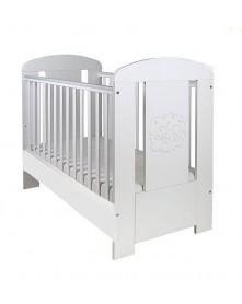 Drewex Łóżeczko/ tapczanik biały Miś Premium z szufladą 120x60 cm