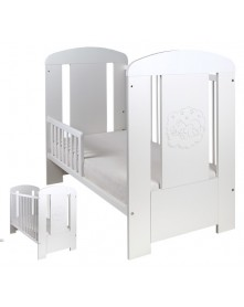 Drewex Łóżeczko/ tapczanik biały Miś Comfort z szufladą 120x60 cm