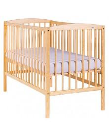 Drewex łóżeczko drewniane Kuba sosna, białe, białe transparent 120x60cm