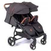 Coletto bliźniaczy wózek wielofunkcyjny lub rok po roku Enzo Twin Dark Grey