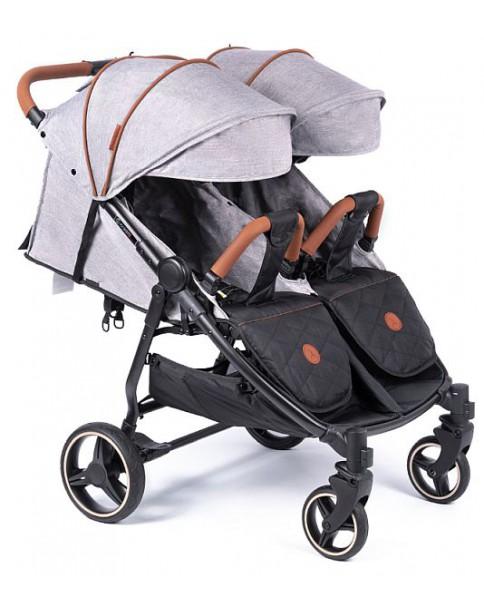 Coletto bliźniaczy wózek wielofunkcyjny lub rok po roku Enzo Twin Grey