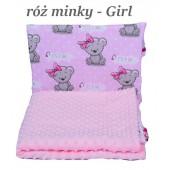 Małe Duże kocyk 100x135 Jesień Róż Minky Girl