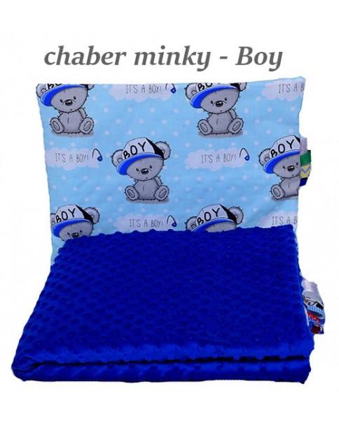 Małe Duże kocyk Minky 75x100cm Zima Chaber Minky Boy