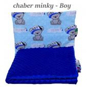 Małe Duże poduszka do łóżeczka Minky 40x60cm Chaber Minky Boy