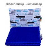 Małe Duże poduszka do łóżeczka Minky 40x60cm Chaber Minky Samochody