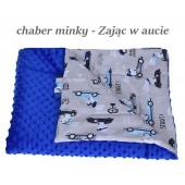 Małe Duże poduszka do łóżeczka Minky 40x60cm Chaber Minky Zając w aucie