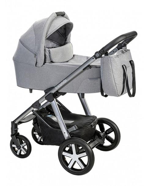 BabyDesign Wózek Wielofunkcyjny Husky 2w1 107 silver grey