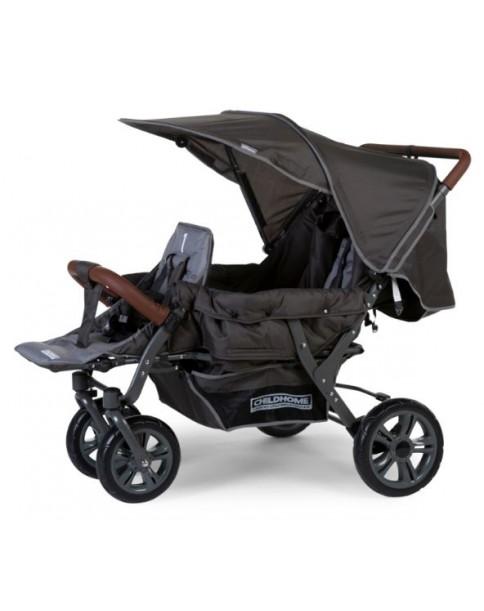 Childhome Wózek spacerowy 3-osobowy Triplette