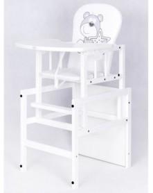 Drewex krzesełko do karmienia Antoś - Miś Z Gwiazdką Białą