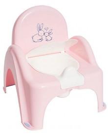Tega Baby nocnik antypoślizgowy krzesełko z pozytywką Króliczki