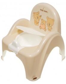 Tega Baby Nocnik Krzesełko Z Pozytywką Miś ( Beżowy )