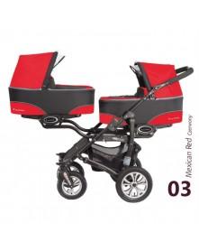 BabyActive Wielofunkcyjny wózek bliźniaczy Twinni 2w1