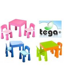 Tega Komplet plastikowy stolik i dwa krzesełka Mamut