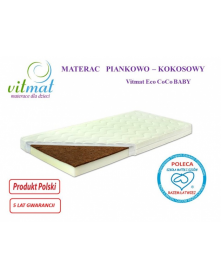Vitmat Materac Piankowo-Kokosowy ECO CoCoBaby 140x70x10cm