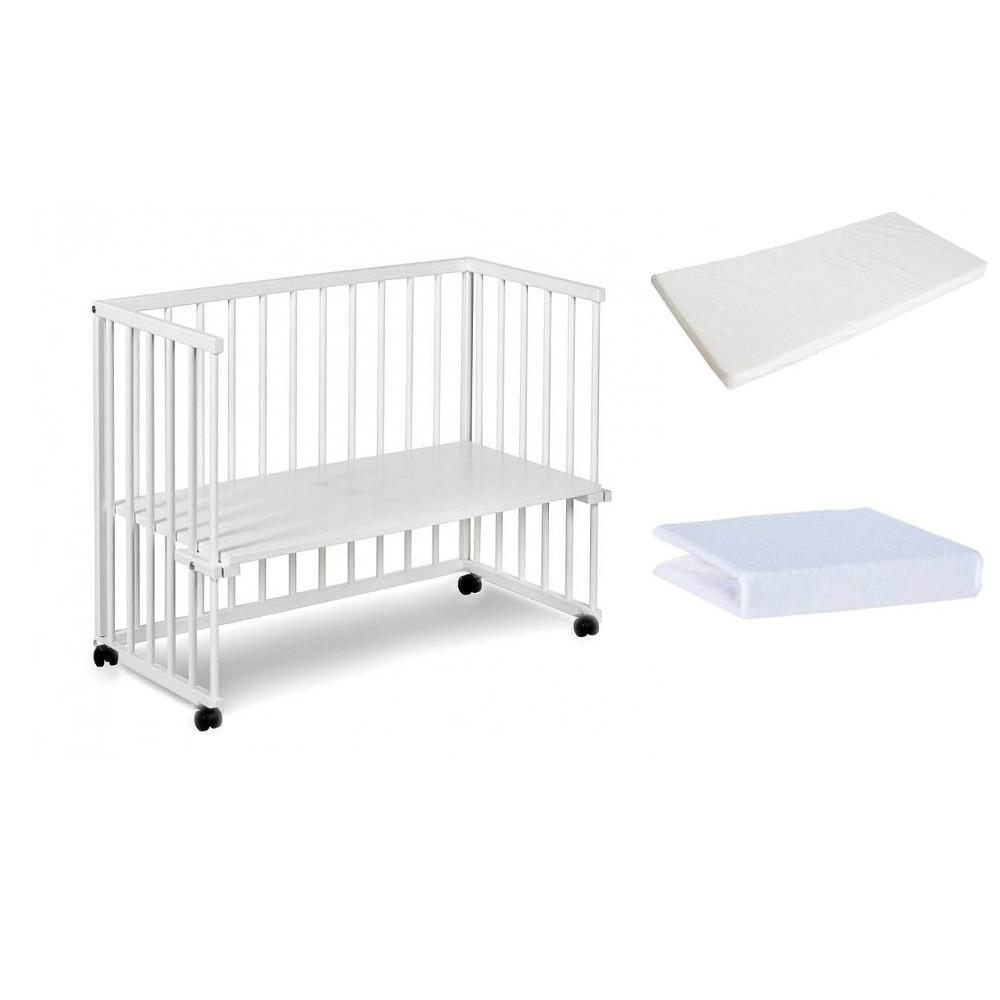 Klupś łóżeczko Dostawne Piccolo Due Białe 90x40 Materac Prześcieradło Z Gumką Artykuły Dla Dzieci Sklepmatipl Foteliki Wózki łóżeczka